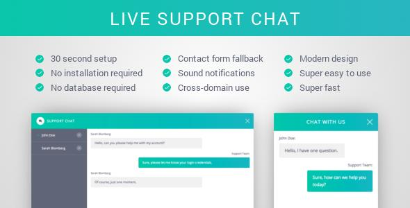 Support Chat - PHP Live Chat